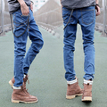 2014 new arrival fashion slim long pencil pants casual skinny high quality hot sale cotton men jeans Free Shipping MF016005