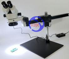 FYSCOPE Professionelle 7X ~ 45X Fernglas Guide Stereo Zoom-mikroskop PCB Inspektionsmikroskop + 60 stücke led-licht