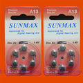 12 x Hearing Aid Batteries A13 13A ZA13 13 PR48