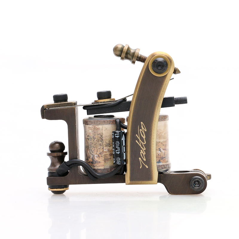 New Type Pure Copper Professional Shader Tattoo Machine For Masters High Performance With Perfect Carving TM452
