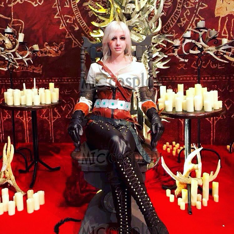 The Witcher 3: Wild Hunt Ciri Cosplay Costume  Anime Women  Clothes
