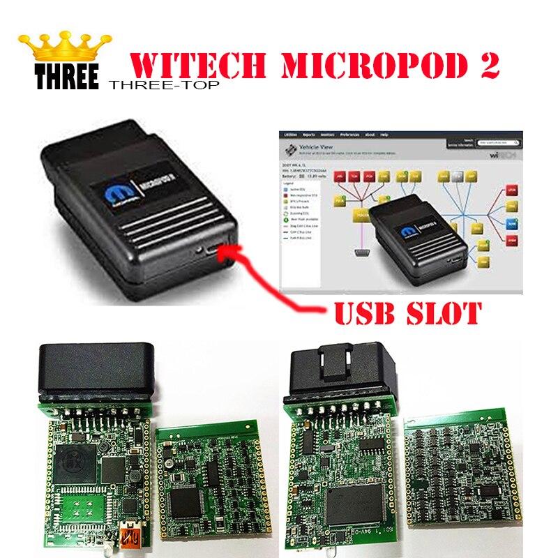 Dernière version + v17.04.27 wiTECH MicroPod 2 Pour Chrysler Support Multi-langues avec DHL gratuite