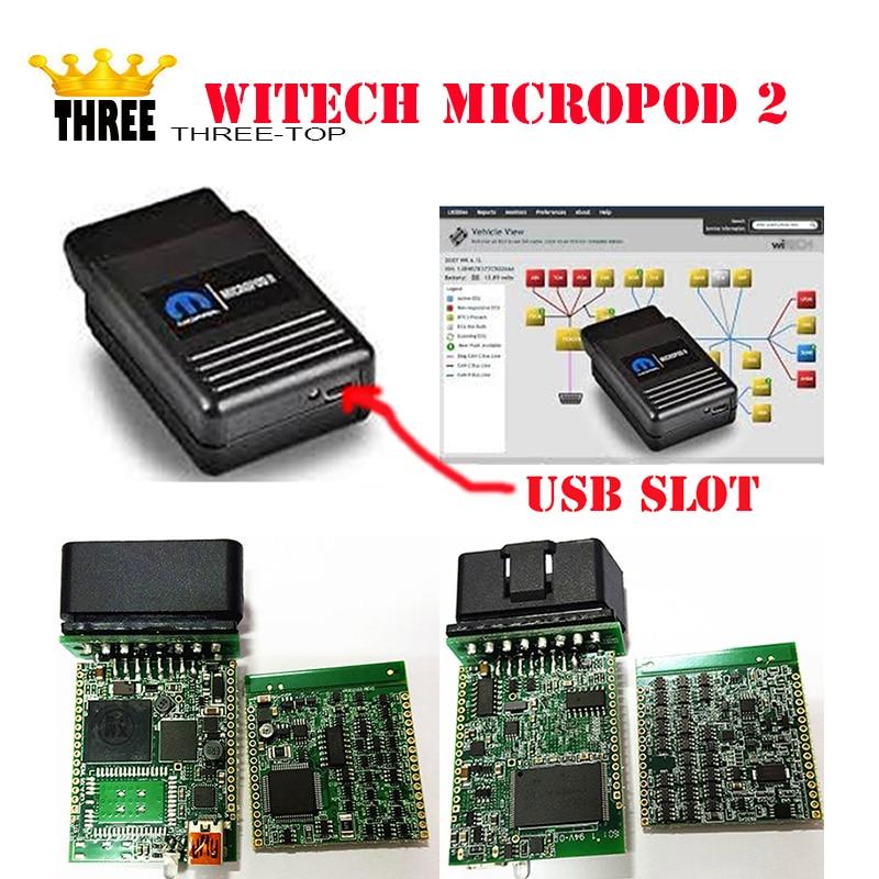 Ultima versione + v17.04.27 wiTECH MicroPod 2 Per Chrysler Supporto Multi-Lingue con trasporto libero del DHL