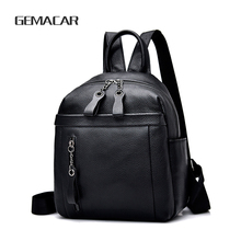 Female Leather Backpack Fashion  Business Casual Wild High-end Ladies Cowhide Bag Elegant Design Simple Style Girl