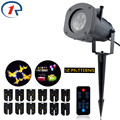 ZjRight IR Remote Outdoor Waterproof LED lights 12 Pattern projection effect light Birthday Xmas Halloween party effect lighting