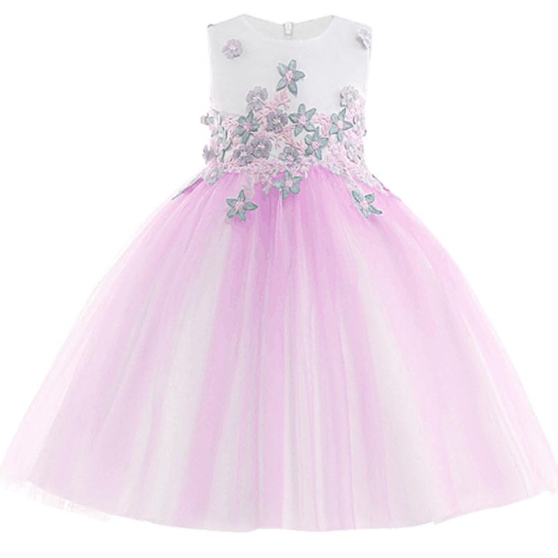Flower Girls Tutu Dress Pageant Formal Princess Girls Birthday Party Dress Children Kids Christmas Prom Costume