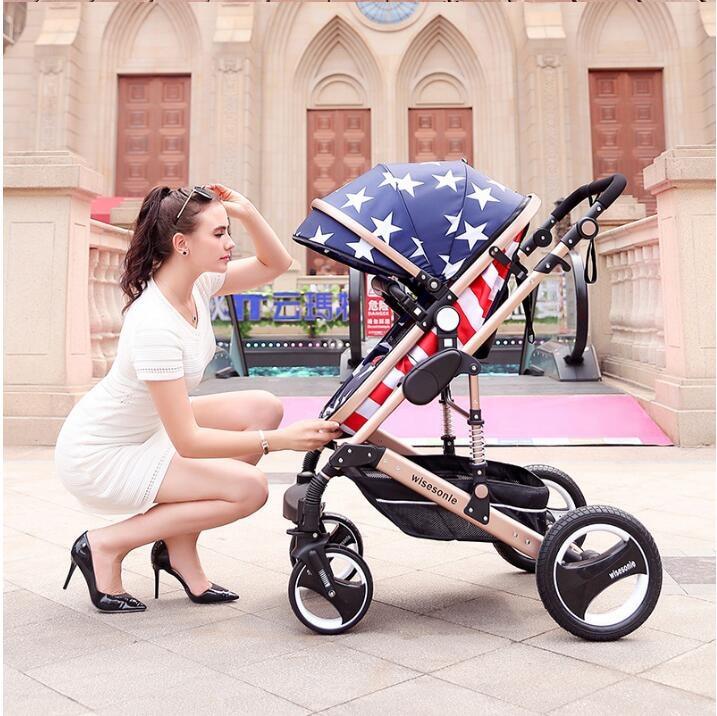Baby Stroller 2 in 1 Stroller ტყუის ან - ბავშვთა საქმიანობა და აქსესუარები - ფოტო 1