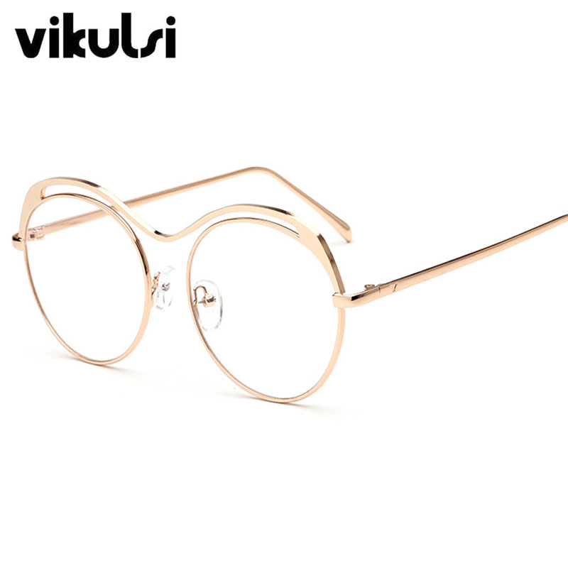 2017 New Brand Design Metal Hyperbola Eyewear Frames Women Men Clear ...