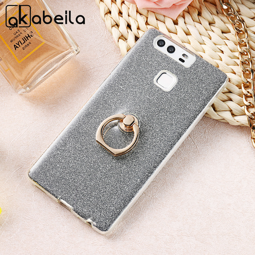 AKABEILA Phone Cover Case For Huawei P9 EVA-L09 (Single SIM) EVA-L19 EVA-L29 (Dual SIM) 5.2 inch Case Glitter TPU Silicone Cover