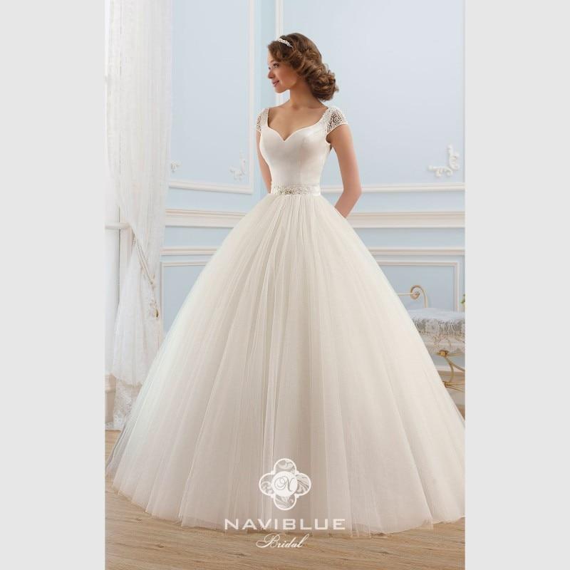 navy blue brand designers wedding dresses 2015 cheap puffy princess backless elegant tulle open back summer