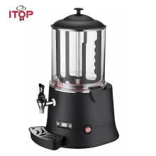 ITOP 10L Hot Chocolate Dispenser Machine Commercial Chocolate Coffee Coco Milk Tea Dispenser Electric Heating System hot sale commercial mini kitchen appliance table counter top 5 liter chocolate melting machine for drink dispenser