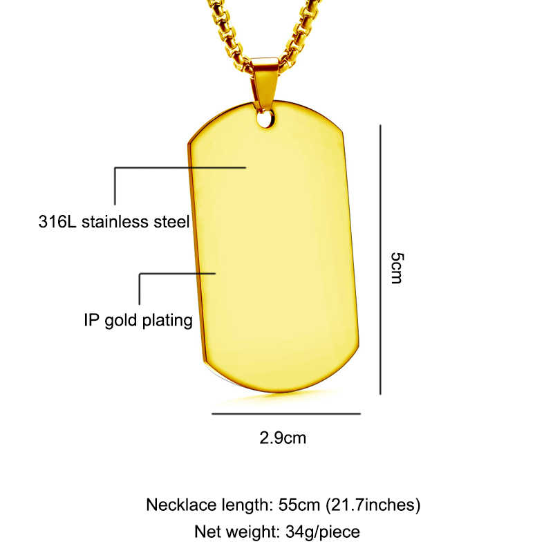 Engraving Stainless Steel Name Necklaces Gold Silver Heart Customized Nameplate Necklaces Dog Card Choker For Women Men Gift