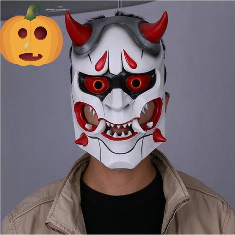 Фотография Маска на хеллоуин ONI Японский дьявол