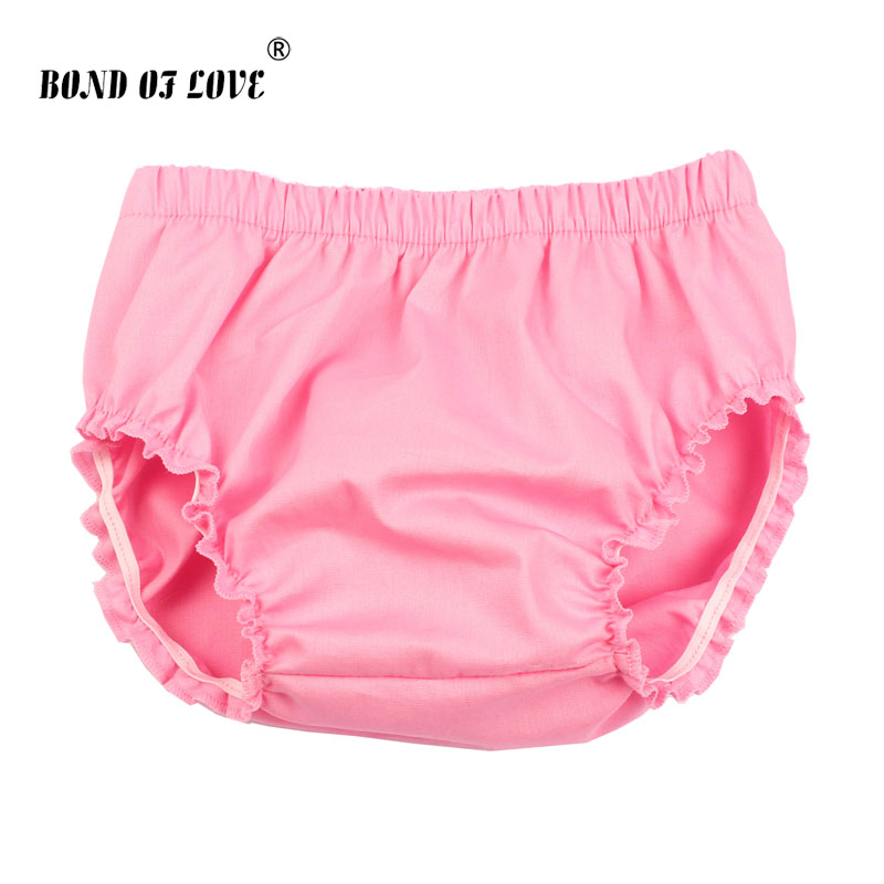 2018 New Fashion Solid Baby Shorts Baby Girl Ruffle Bloomers Diaper Cover Newborn Photography Props Toddler Bloomers YC048 ruffle trim solid tee