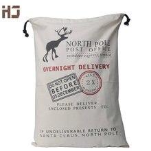 Vánoční dárková taška z plátna s vánočním potiskem – 3 styly