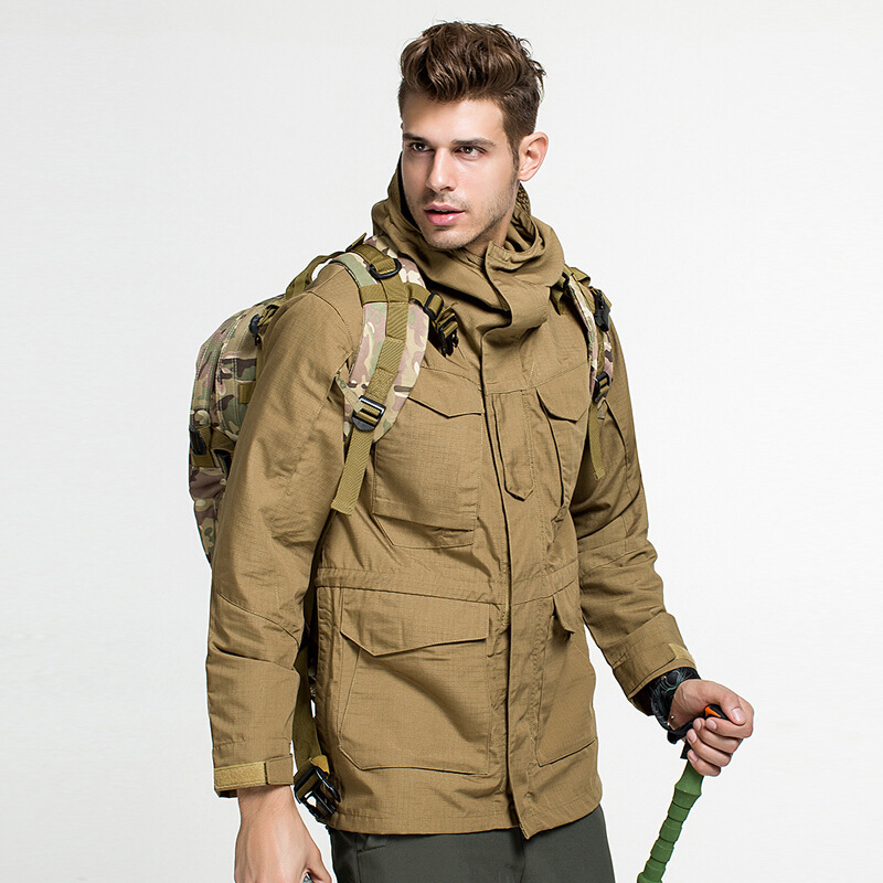 Outdoors Hiking Charge Clothes Classic Army Fans M65 Windbreaker Wear-resistant Warm Anti-fouling Waterproof Windproof Jackets Sports & Entertainment Hiking Clothings