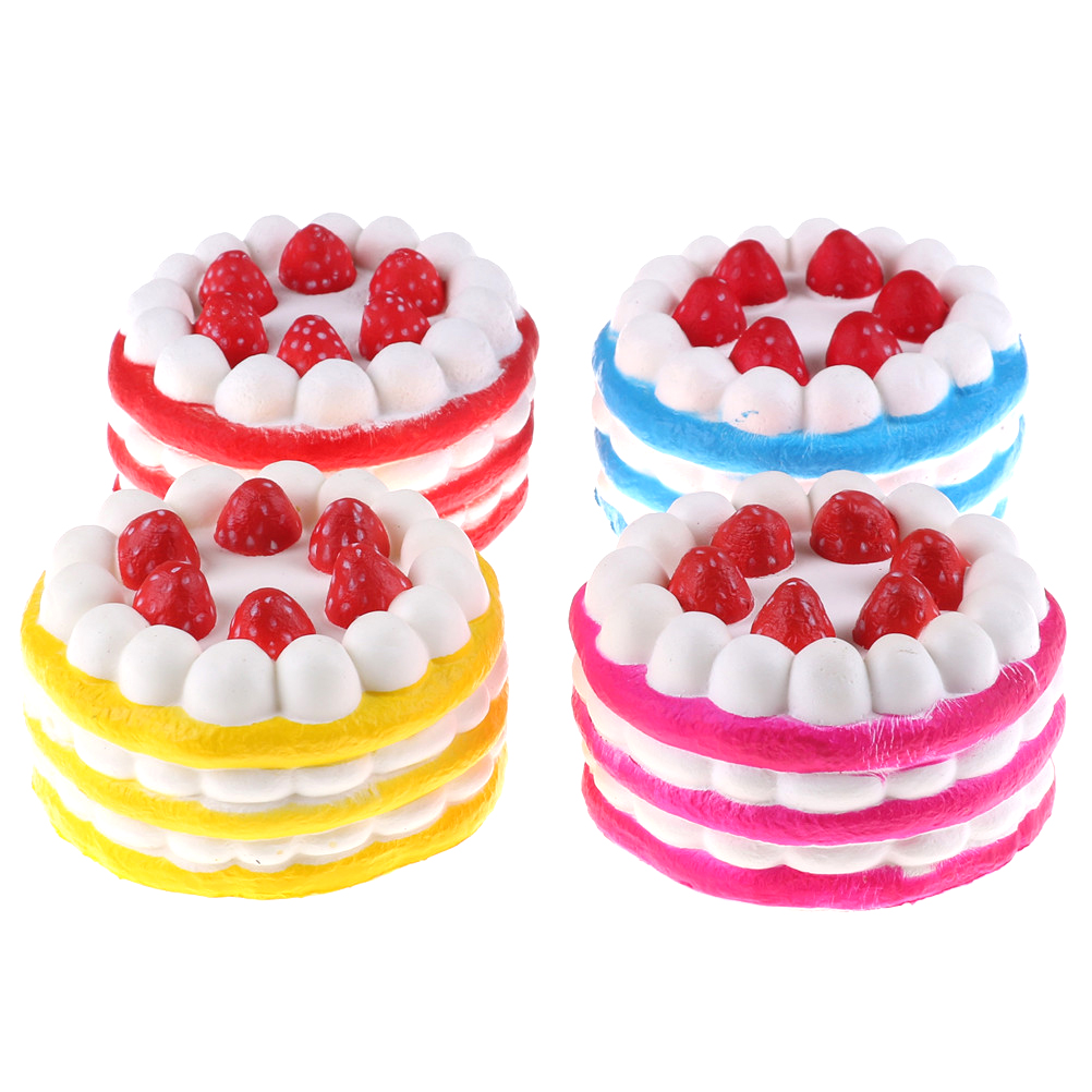 Realistic Slow Rising Strawberry Cake Shape Cream Scented Relieves Stress Anxiety Toys Squishies Pendant Kids Gifts Kawaii Squishy Selling Well All Over The World Cellphones & Telecommunications Mobile Phone Accessories