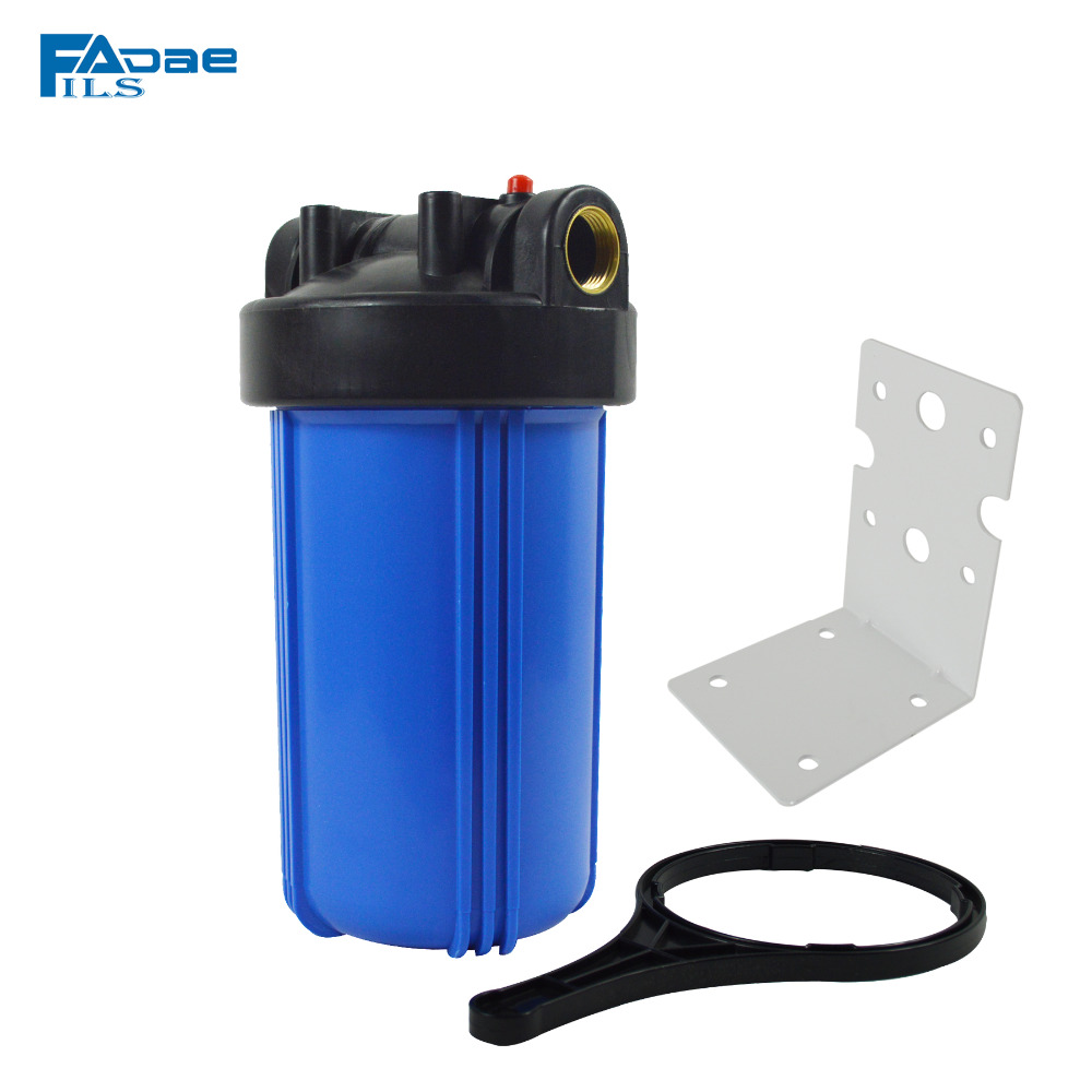 10in. Whole house heavy duty Big Blue Filter Housing,1 brass insert,fit all standard 10in. L x 4-1/2 OD Filter Cartridges house fit hg 2108
