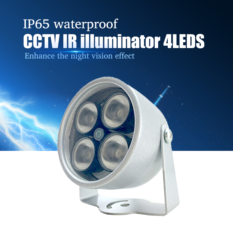 Illuminator Light 4 Big LED CCTV IR Infrared Night Vision For Surveillance Camera Security System Wholesale Free Shipping illuminator light 4 big led cctv ir infrared night vision for surveillance camera security system wholesale free shipping
