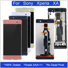 5.0'' LCD for Sony Xperia XA F3111 F3113 F3115 Touch Screen Display Digitizer Assembly Xperia XA Screen Replacement With Frame replacement parts for sony xperia xa lcd display with touch screen digitizer assembly f3111 f3113 f3115 one piece free shipping