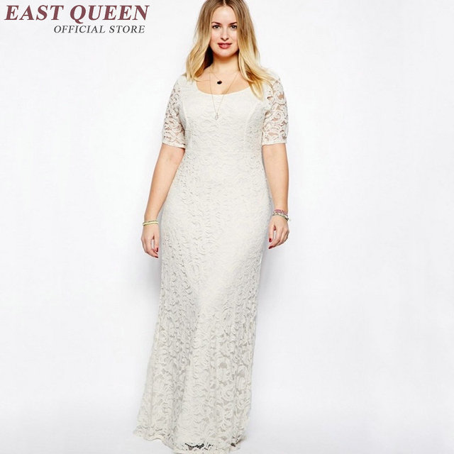 New Arrival summer plus size clothes white lace dress 2018 backless ...