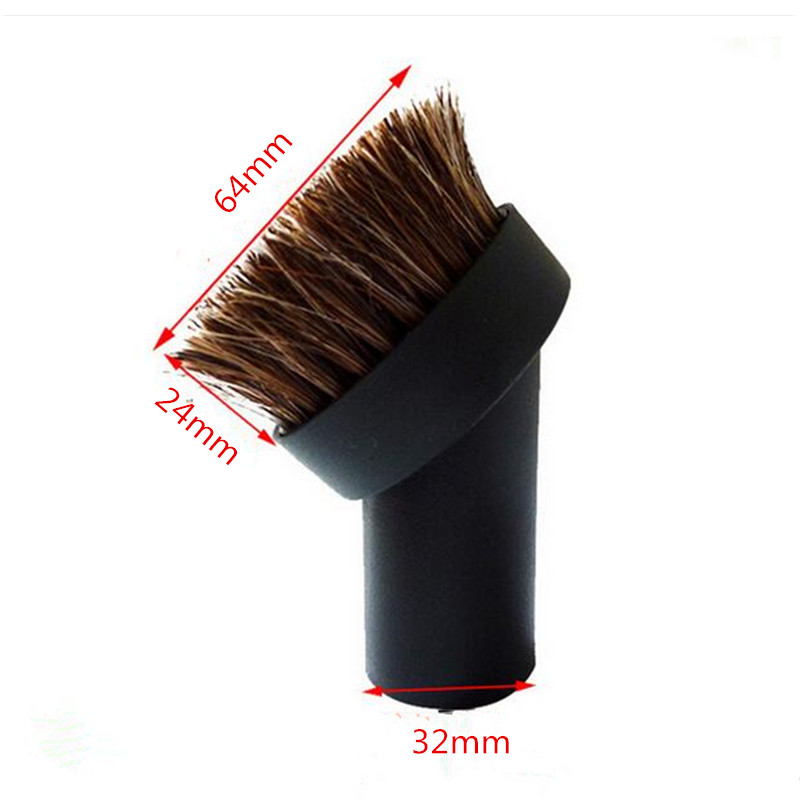 Vacuum Cleaner Accessories Round Brush 32MM Inner Diameter Brush Head Replacement Vacuum Brush Parts 2016 summer patent leather buckle slides for women fashion stone upper flat platform ladies casual beach slippers sandals shoes