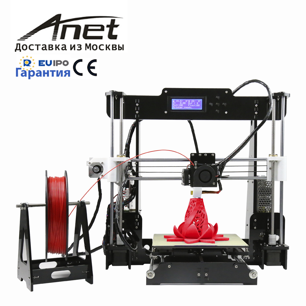 2019 new Anet A8 black 3d printer kit/i3 reprap high precision qulity best at home/aluminum hot bed/express shipment from Russia image