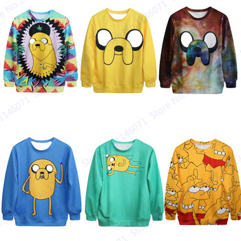 Funny Yellow Jake The Dog Print Women Sweatshirt Sportsuits Pullover Adventure Time Tracksuits Autumn Winter Sweaters Hoodie 3D jung kook bts persona