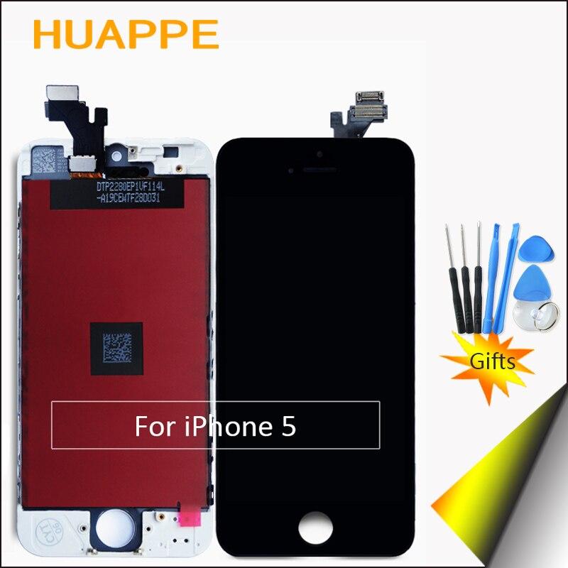 imágenes para 1 UNIDS AAA Excelente Calidad Pantalla LCD de Pantalla Para el iphone de Apple 5 LCD Reemplazo de la Pantalla Táctil de 4.0 pulgadas Blanco Negro Libre regalo