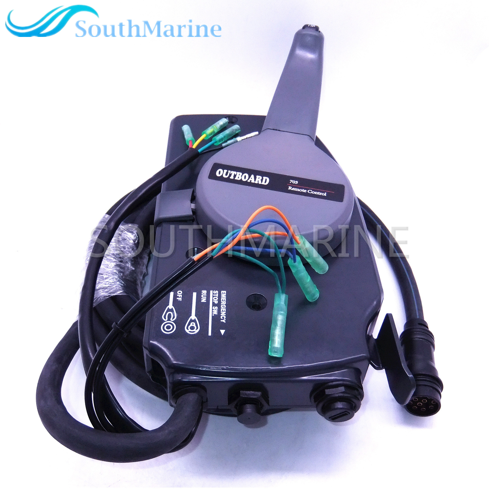 Boat Motor 703-48207-22-00 Side Mount Remote Control Throttle Shift Box For Yamaha Outboard Engine 10 Pins, Right Hand New Type