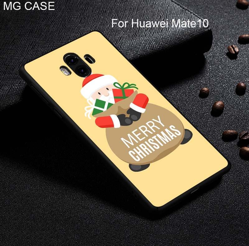 Merry Christmas Peony Flower Phone Case For Huawei Mate9 Mate9pro Mate10 Mate10pro Shell Cover For Huawei Nova2 Nova2plus Head 6
