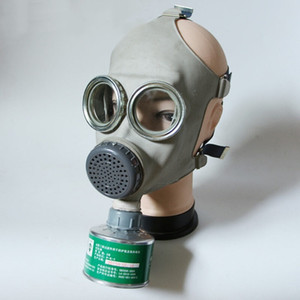 Image 5 - צבאי גז מסכת 64 מלא פני Respirator ציור ריסוס חומרי הדברה טבעי גומי מסכת כימי מניעת 0.5M צינור מסנני