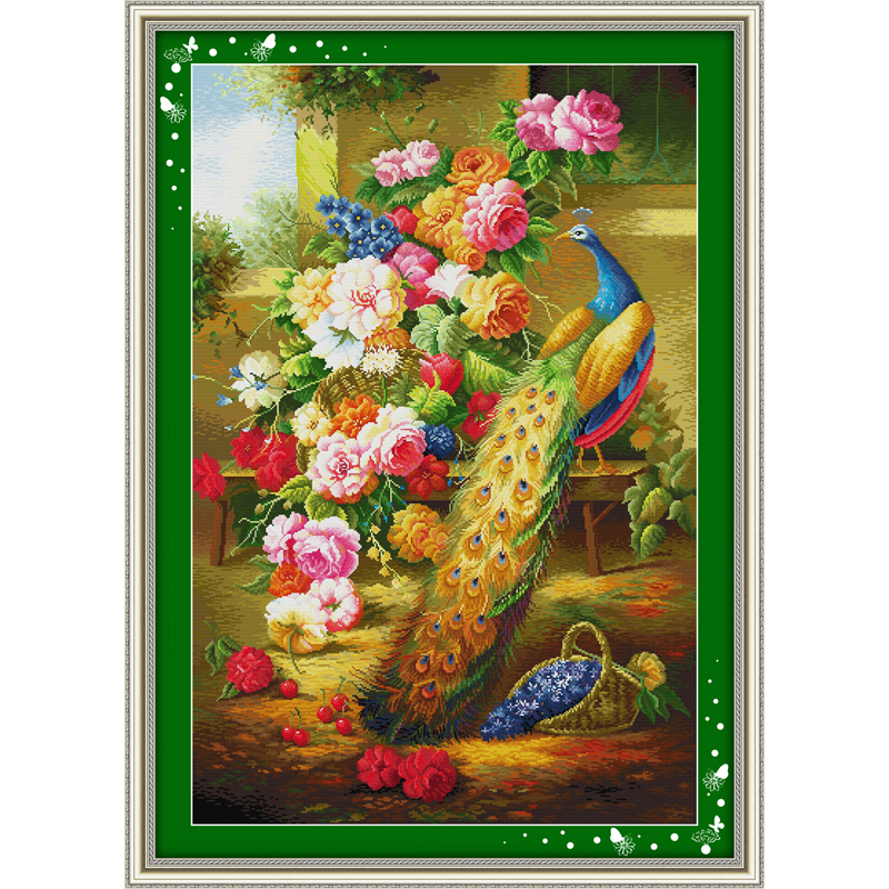 Everlasting love Wealth honour 2 Chinese cross stitch kits Ecological cotton stamped 11CT DIY new year