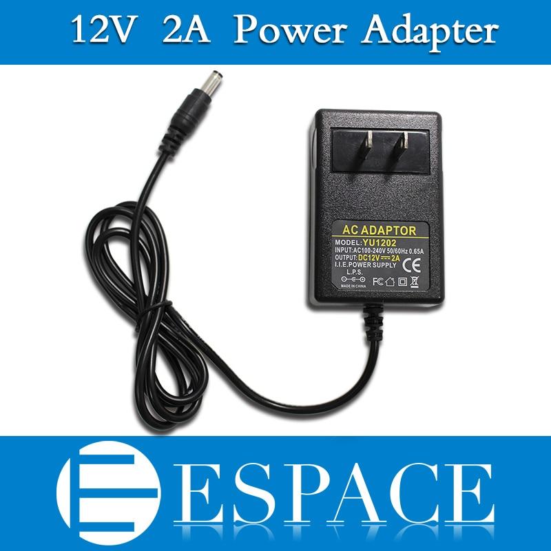 100pcs/lot 12V 2A Power Supply AC 100 240V To DC Adapter Plug For 3528 5050 Strip LED with EU/US plug free DHL