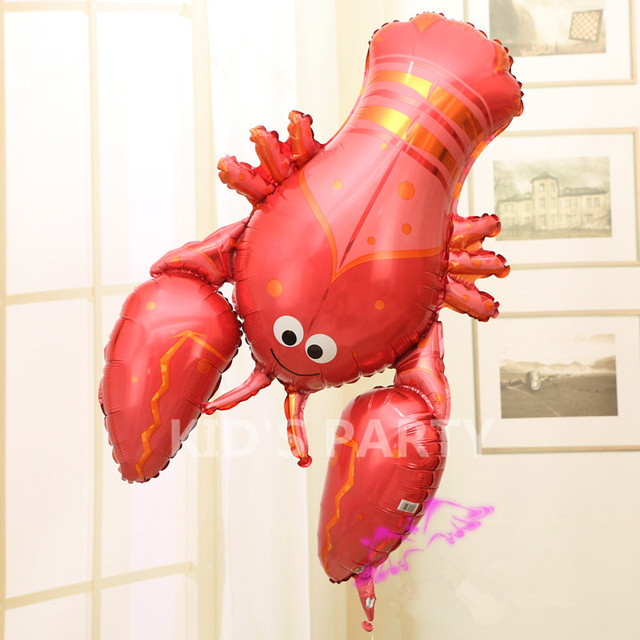 1pc 36 Inch Big Balloon Lobster Balloons Decor Large Foil Balloons