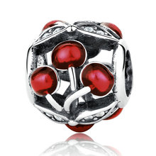 Buy pandora cherry charm and get free shipping on aliexpress saradoa sweet cherries glossy red 100 925 sterling silver sciox Images