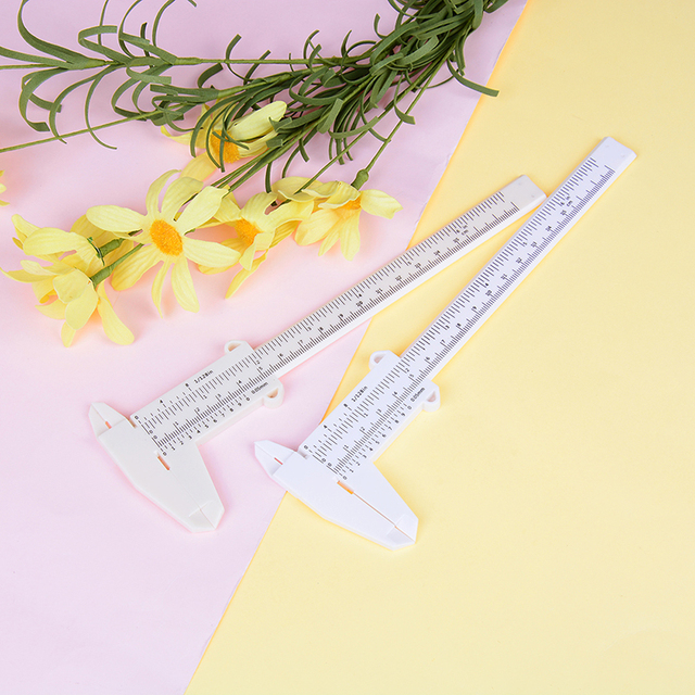 Portable 150MM Plastic Eyebrow Permanent Makeup Measurement Tools Measuring Vernier Caliper Tattoo Microblading Caliper Ruler 1