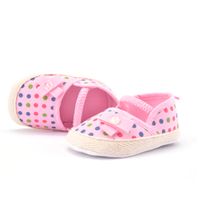 Infant Toddler Stripe Flower Soft Sole Shoes 0-18 Months