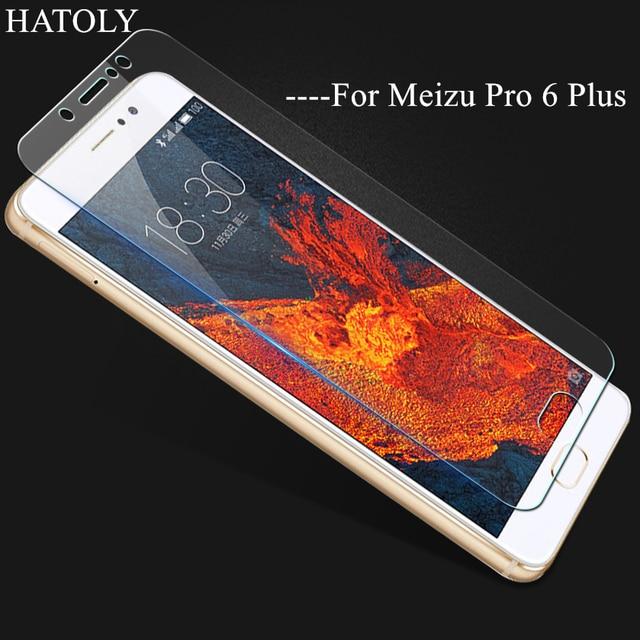 2 uds vidrio para Meizu Pro 6 Plus vidrio templado 2.5D 9H Protector de pantalla para Meizu Pro 6 Plus película Meizu Pro 6 Plus cristal HATOLY