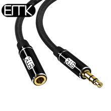 цена на EMK aux extension cable male to female 3.5 audio cable 3.5mm jack cable 0.5m 2m 3m Extender Cord for Headphone iPhone Amplifier