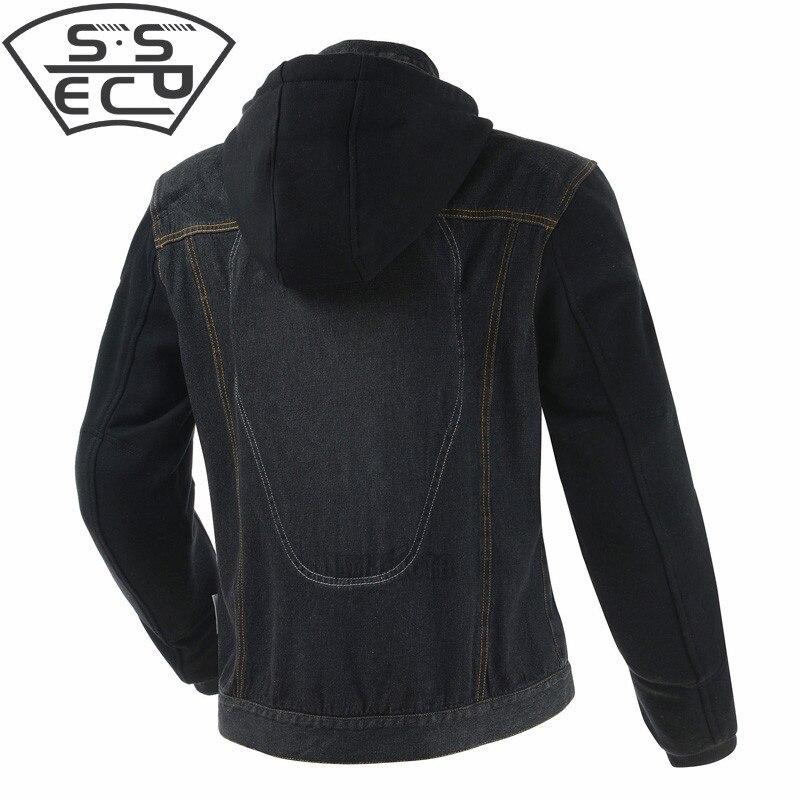 SSPEC été respirant hommes cross-country moto course veste denim veste vêtements de protection - 4