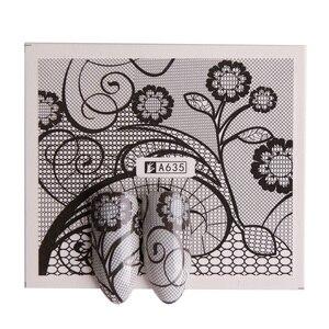 Image 3 - 40 листов/Искусственная переводка воды, Черное кружево, цветы, дизайн «сделай сам», фотообои, Набор Декоративной фольги