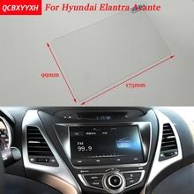 Etiqueta Engomada del coche de 8 Pulgadas de Navegación GPS de Pantalla de Control de Pantalla LCD Película Protectora Para HYUNDAI Avante Acero Car Styling