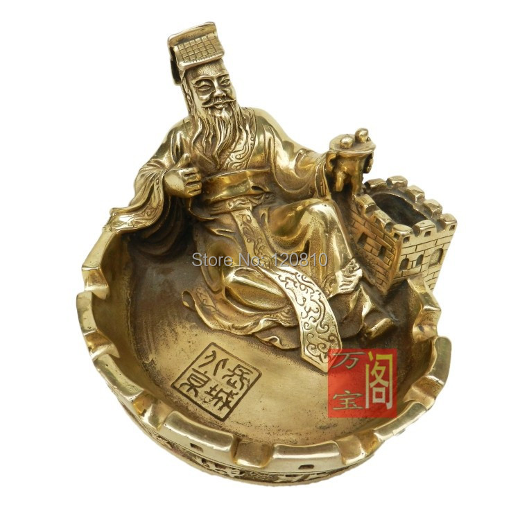 Great wall of qin shi huang copper ashtray ashtray feng for Decoration feng shui chambre