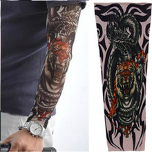 Tattoo Sleeve Punk Fashion Nylon Stretchy Temporary Tattoos Art Fake Temporary Arm Designs Body Painting