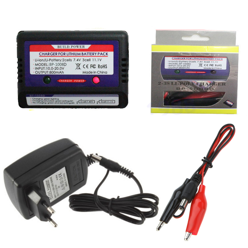 7.4-11.1v Lithium Battery 2-3s Cell LiPo Balance Charger Set With 12V 2A Switch Power Adapter EU/US Plug freeship suny 12v 5a ac power adapter for rc lithium battery balance charger black 100 240v us plug