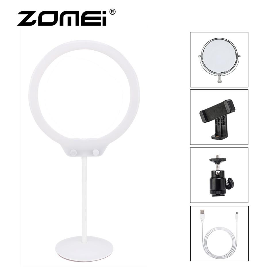 ZOMEI Ring Licht Kit Mini Dimmbar Flexible Fotografische Beleuchtung Tisch LED Ring Video Licht mit Stand für Make-Up Studio Telefon