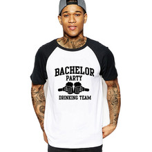 2019 streetwear Men's Bachelor Party Drinking Team t-shirt Geek Words Awesome T Shirts big size summer Costumes hombre tshirts
