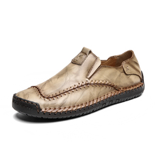 Fotwear Men Leather shoes Fashion Style High Quality Leather shoes brand Good designer with soft upper rubber outsole sewing g n shi jia black genuine leather upper rubber outsole men s leisure shoes sewing soft outdoor retro male casual shoes 888330
