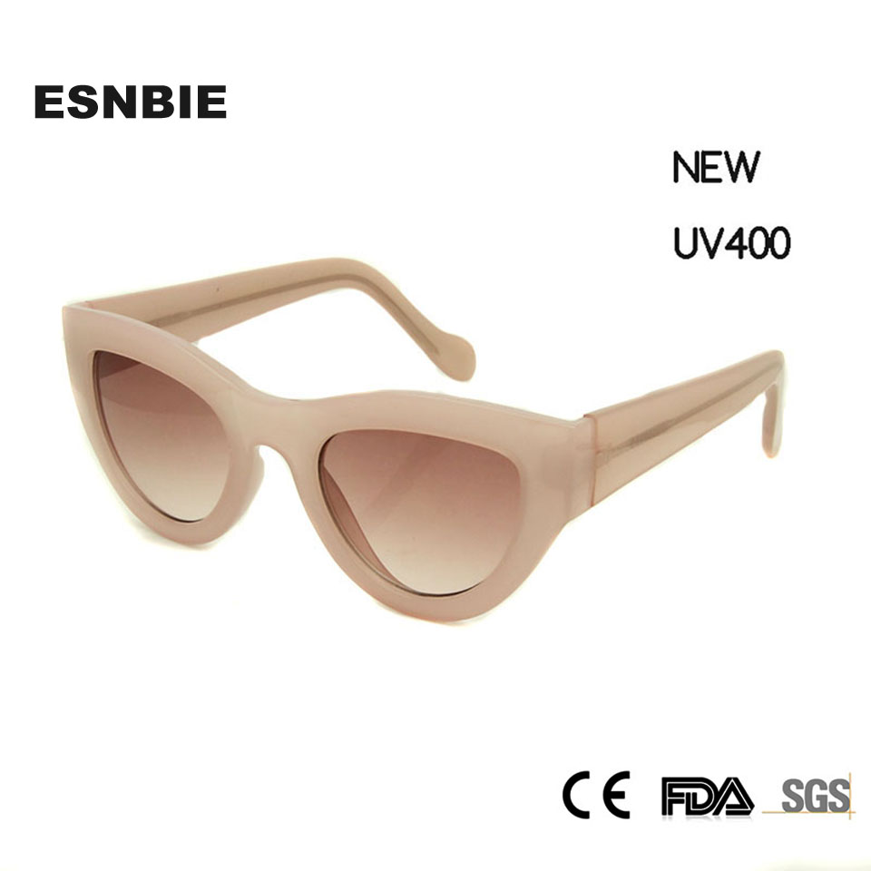 esnbie new pink sunglasses women cat eye sexy lunette de soleil women 39 s decorative glasses. Black Bedroom Furniture Sets. Home Design Ideas